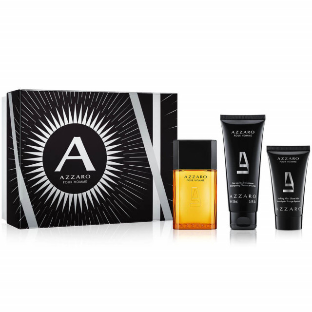 Azzaro pour Homme   Coffret Eau de Toilette, Gel douche et Après-rasage